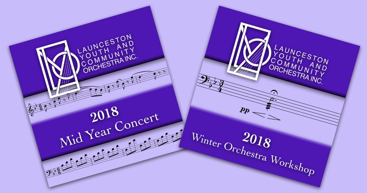 Album art labelled LYCO 2018 Mid Year concert and 2018 Winter Orchestra Workshop