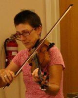 Christine Akerman with viola